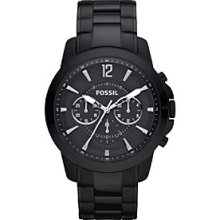 Fossil Men's Grant Black Stainless Steel Watch Men's