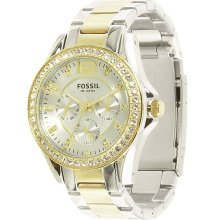 Fossil Two-Tone Boyfriend Watch in Two Tone