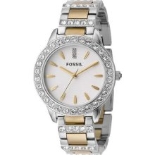 Fossil Two-tone Mixed Metal Ladies Watch Es2409