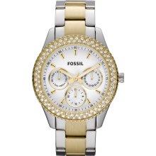 Fossil Women's Stella Silver Dial Watch ES2944