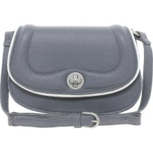 French Connection Pepper Pleather Small Crossbody Bag Lt grey/white