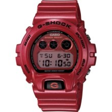 G-Shock Watch, Mens Digital Red Resin Strap 50x53mm DW6900MF-4