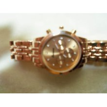 Geneva Gl Watch Slim Rose Gold Metal Band With Match Dial Designer Style Cutie