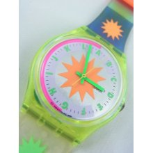 Gj108 Swatch 1992 Artic Star Authentic Fluorescent