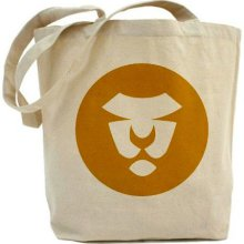 Gold Lion Tote, Eco, Art On Both Sides, Circles, Mustard, Gold, Yellow, Summer, Animals, Children, Shopping, Book Bag, School Bag, Gym