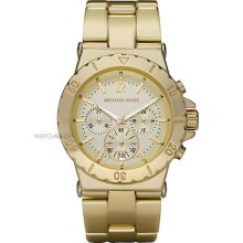 Gorgeous Michael Kors Bel Aire Gold-tone Chronograph Women Watch Mk5463