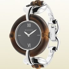 Gucci bamboo collection watch with black dial