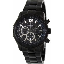 Guess Men's U0046G1 Black Stainless-Steel Quartz Watch with Black Dial