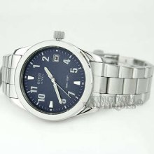 Guess Mens Watch Steel Blue Dial Date Display 50m G85397g Montre Uhr