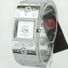 Guess Womens Watch Steel G-logo Silver Steel Swarovski G84001l1 Montre