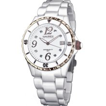 Haurex Italy Ladies Pw342dwh Make Up White Dial Watch White Out Watch
