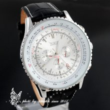 High Quality Men's Automatic Mechanical Formal Watch Three Small Adjustable Dial