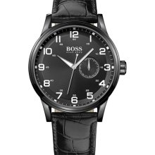 Hugo Boss Black Leather Mens Watch 1512833