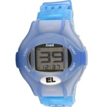 Ibiza Mens Youths Digital Chronograph Watch Blue Pu