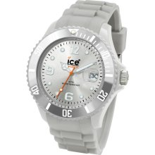 Ice-Watch Sili Collection Silver Silicone Unisex Watch SISRUS09