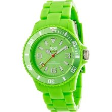 Ice-watch Unisex Quartz Watch With Green Dial Analogue Display And Green Plastic
