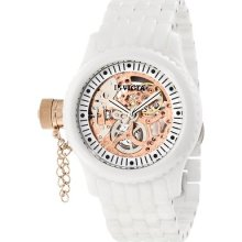 Invicta 1898 Russian Diver Mechanical White Ceramic Skeleton Ceramic Watch
