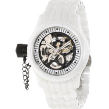 Invicta 1900 Women's Russian Diver Lefty Skeleton Dial Ceramic Mechanical Watch