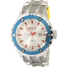 Invicta $1995 Men Reserve Specialty Silver Dial Grey Polyurethane Watch 10970