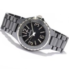 Invicta Mens Ceramic Swiss Checkerboard Patterned Black Ceramic Bracelet Watch
