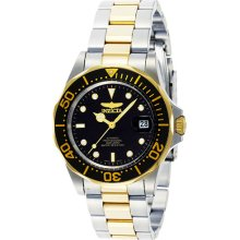 Invicta Men's Two Tone Stainless Steel Pro Diver Black Dial Automatic 8927