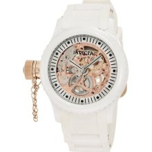 Invicta Women's Russian Diver White Skeleton Dial Watch 1827