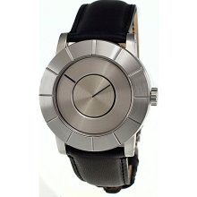 Issey Miyake To: Automatic Mens Watch Silver Dial; Leather Black Band - Issey Miyake Watches