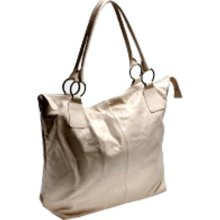 Italian Leather Off White Tote Bag