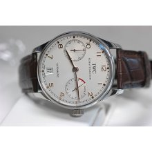 Iwc Portuguese Ss 5001 14 Automatic Unworn 43mm On Brown Leather Strap Bnib