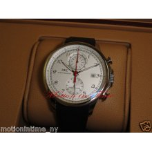 Iwc Portuguese Yacht-club Chronograph White Dial On Rubber Strap Ref: Iw390211