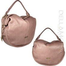 Just Cavalli Handbag Mauve Leather Slouchy Hobo Bag w/Side Pockets (JC168)