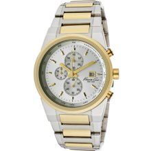 Kenneth Cole Watches Men's Chronograph Silver Dial Two Tone Stainless