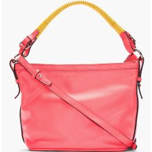 Kenzo Hot Pink Leather Convertible-strap Shoulder Bag