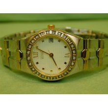 Ladies Citizen Eco Drive With 24 Diamond Bezel In Very Good Condition