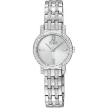 Ladies' Citizen Silhouette Crystal Stainless Steel Watch