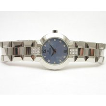 Ladies Concord Ss Blue Mop Dial Diamond Accents 'la Scala' Style 14.g4.1843.s
