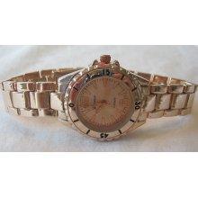 Ladies Geneva Rose Gold Bracelet Watch 6 +michael Kors Perfume Sample