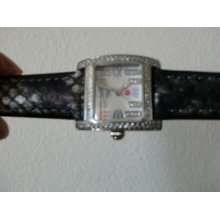 Ladies Michele Watch With Diamond Bezel & Dial-5atm