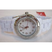 Ladies Relic By Fossil Bella White Analog Watch- Zr11883