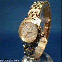 Ladies Solid 18k Gold Baume & Mercier Capeland Quartz Wristwatch