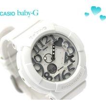 Latest Casio Baby-g Neon Dial Series White Ladies Watch Bga-134-7b Bga134 7b