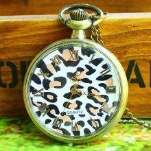 Leopard-Print Pocket Watch