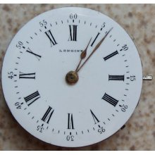 Longines Pendant Watch Movement & Dial 29 Mm. In Diameter Stem To 3