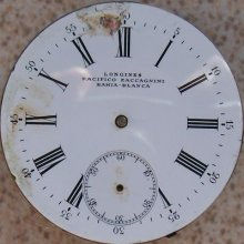 Longines Vintage Pocket Watch Movement & Dial 45,5 Mm. To Restore Or Parts