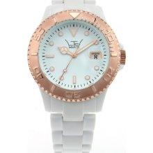 LTD-020701 LTD Watch Unisex Plastic 3 Hand Watch With Rose Gold Bezel ...
