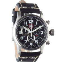Luminox Field Chronograph 1840/1880 Series Watch Black/White/Steel-Black Strap, One Size