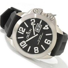 Men's Croton Bold Color Black Strap Swiss Watch CA301195BSBK