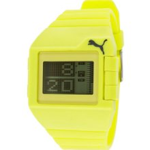 Men's Don't Run Out Of Steam Digital Multi-Function Lime Rubber ...