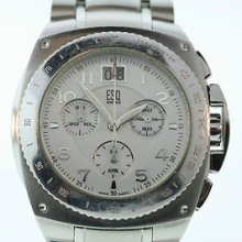 Men's Esq By Movado Bracer 07301091 Stainless Multifunction White Dial Watch