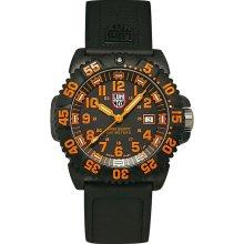 Men's Luminox Navy SEAL Colormark 3050 Series Black/Orange Watch
